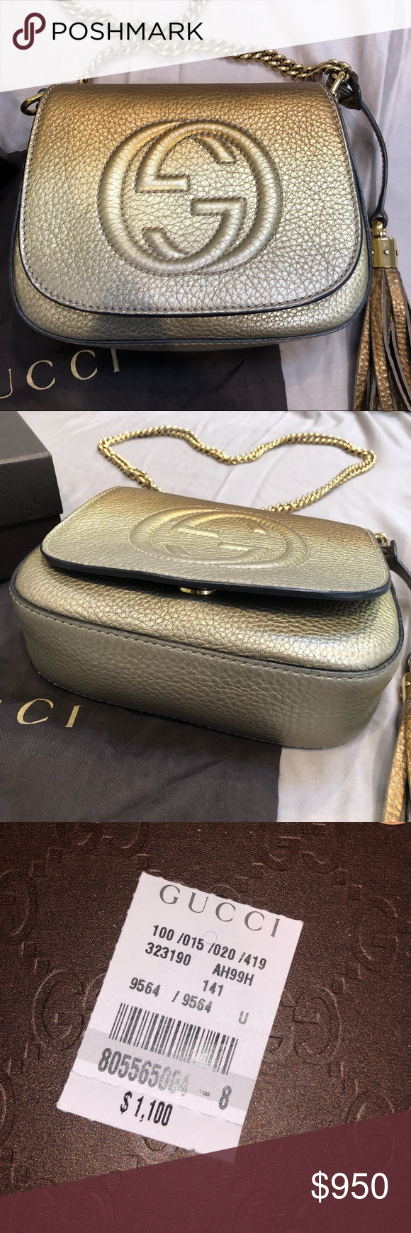 bc793f0ebe36c6 Gucci gold bag This is a small ombré gold Gucci bag/purse. I still ...