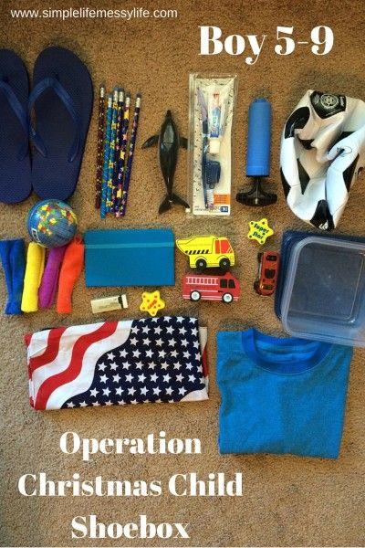 Operation Christmas Child Shoeboxes (5-9 Boy, 5-9 Girl, and 10-14 Boy