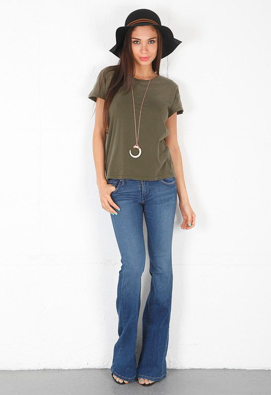 Click Image Above To Purchase: Play Girl Flare In Hampton Blue - Designed By James Jeans