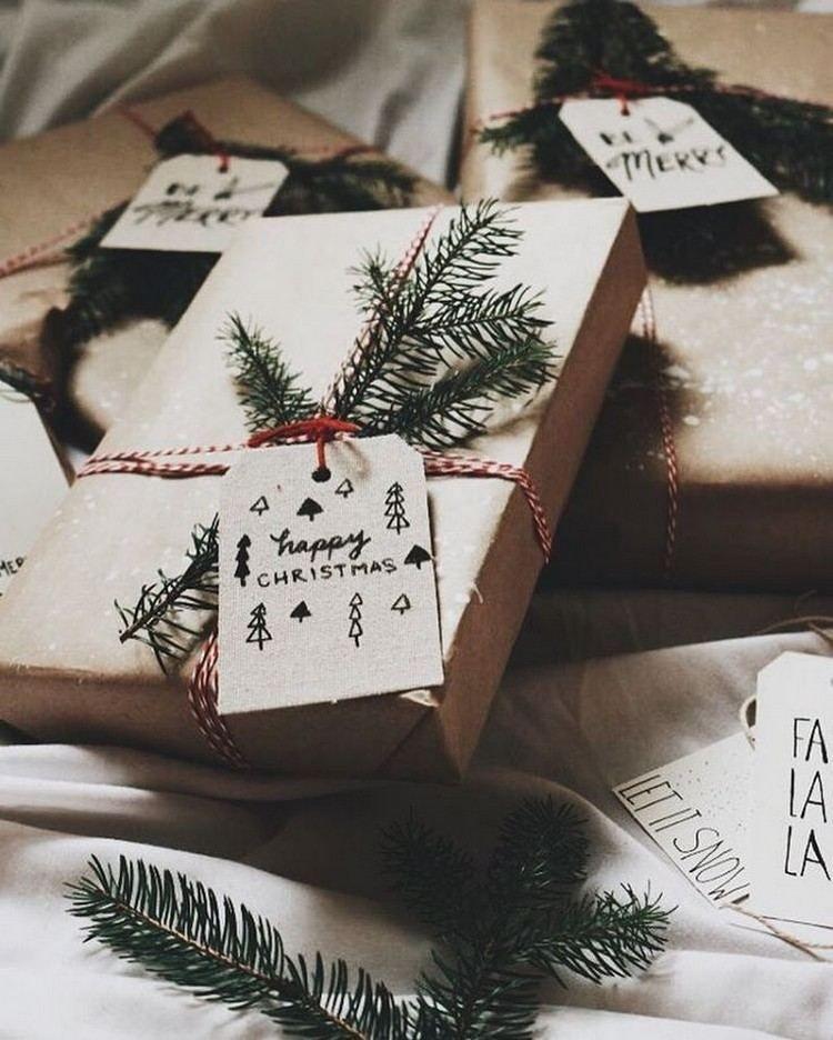 Emballage Cadeau Original Pour Noel 2017 A Faire Soi Meme En 80