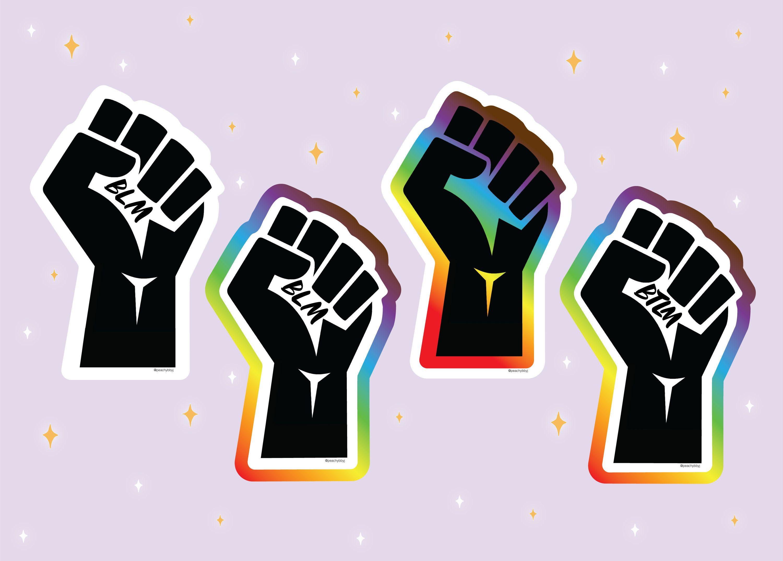 Black Lives Matter x LGBTQ Pride Fist Vinyl Sticker Etsy