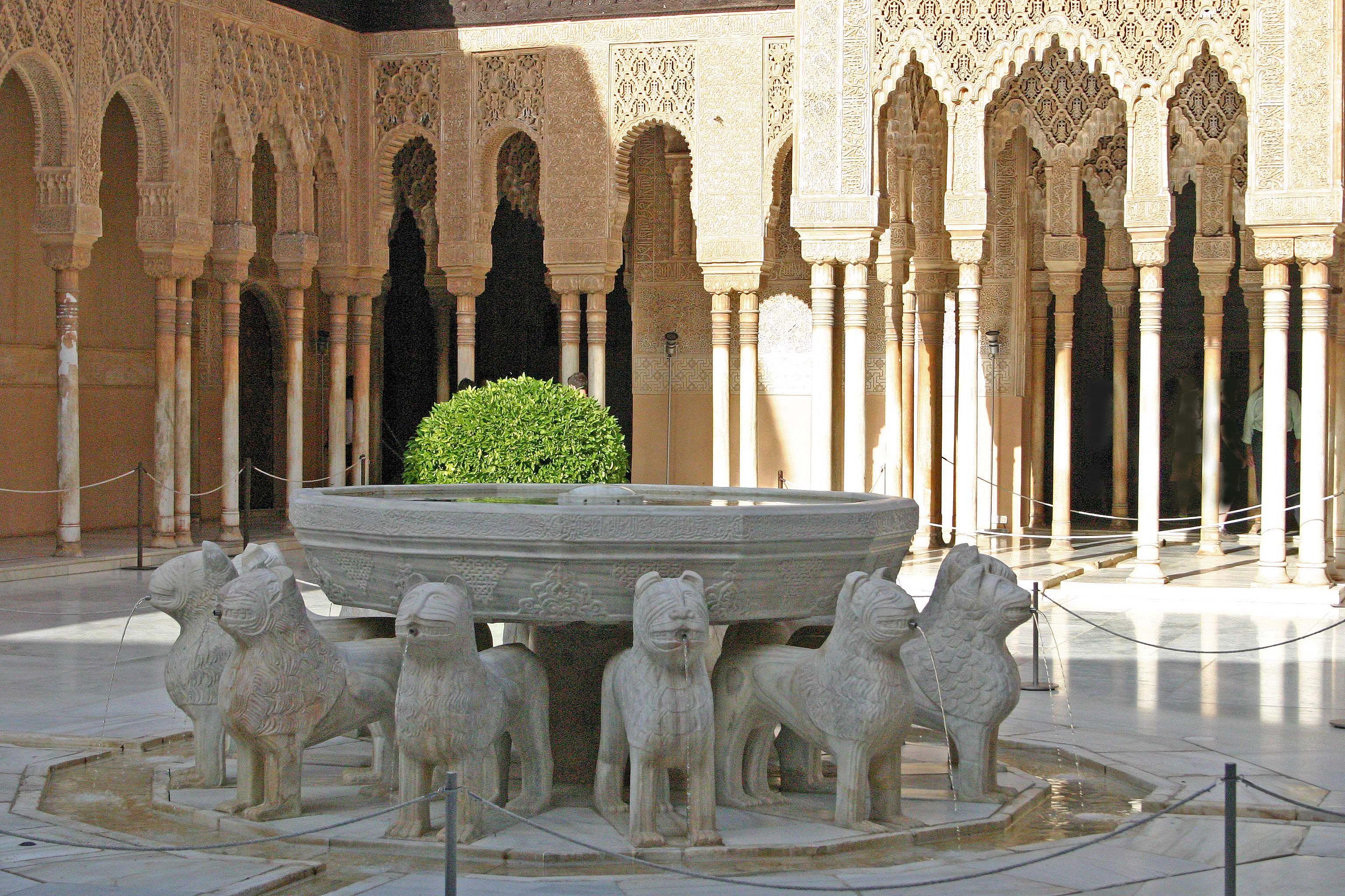 Fuente patio de los leones alhambra de granada alhambra - Patios de granada ...