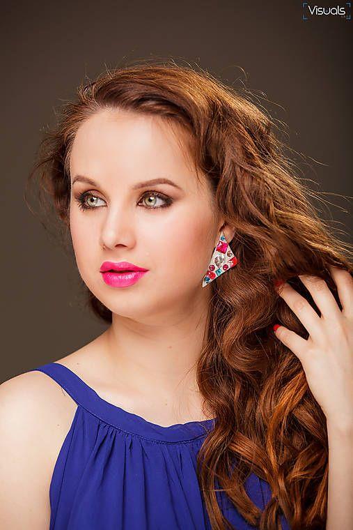 #earring #handmadebyzuzu #crystals #resin #recykled #handmade suzina / pink @ tyrkys crystals
