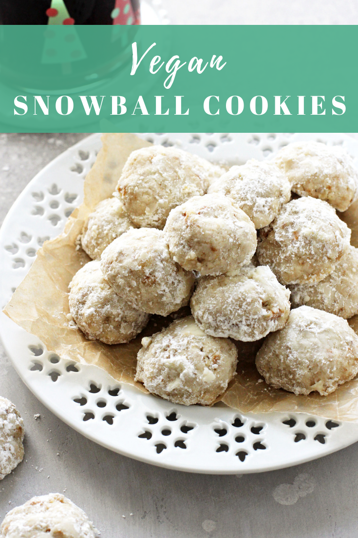 Vegan Snowball Cookies Recipe in 2020 Yummy food