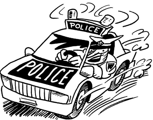 police officer coloring page police car car coloring pages - Police Officer Coloring Pages