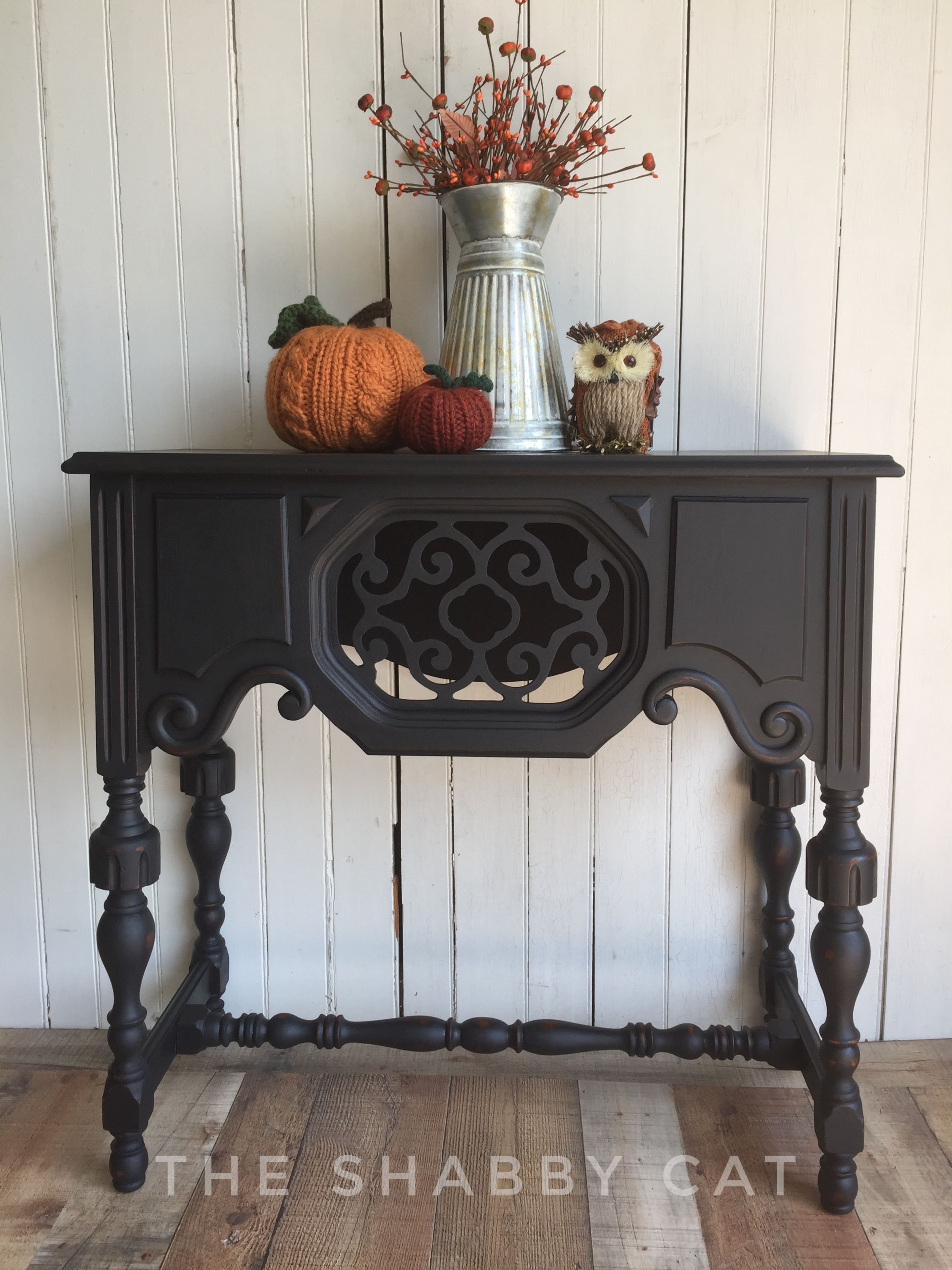 Country Chic Licorice With Natural Wax Victorian Furniture Refinishing Furniture Country Chic Paint