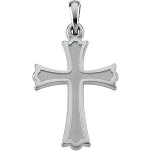 Bonyak Jewelry Gold Over Sterling Silver Cross with 18 in Gold Plated Brass Chain and Deluxe Gift Box