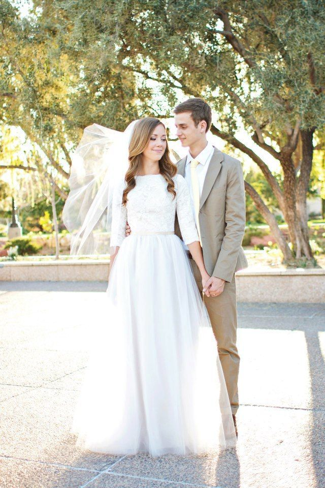 White 3/4 sleeves Vintage Lace A-Line Wedding Dress Garden Bridal ...