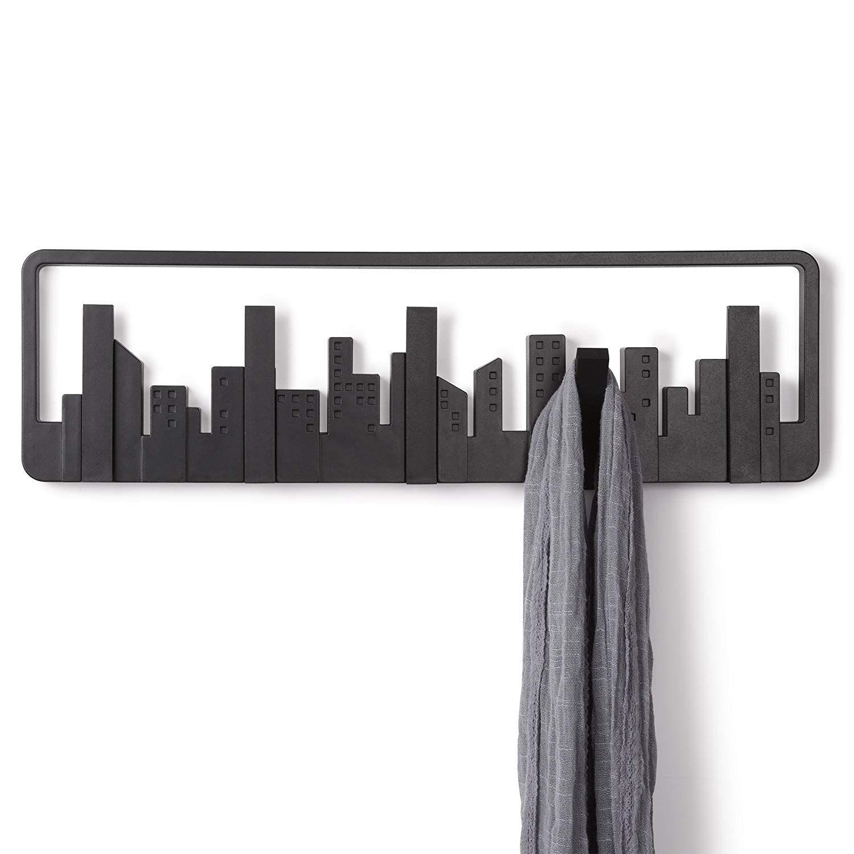 Umbra Skyline Wall-Mount Multi-Hook Black