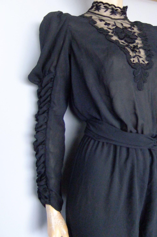 black jumpsuit / onsie / vintage onepiece / xs / s by vintage2049 on Etsy