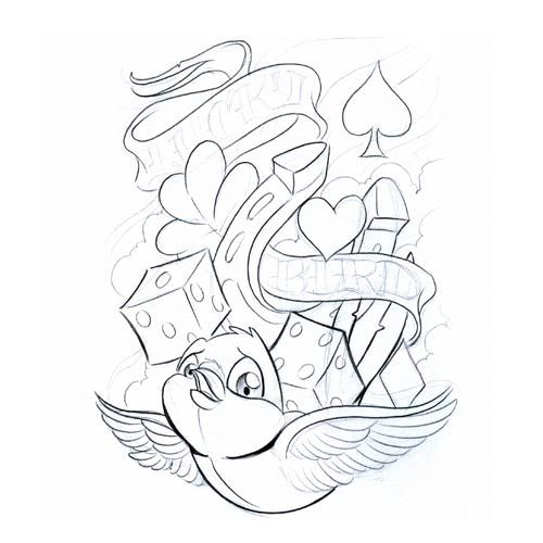Tattoo Flash Line Drawing Converter : Bird symbol gallery symbols lucky tattoo free