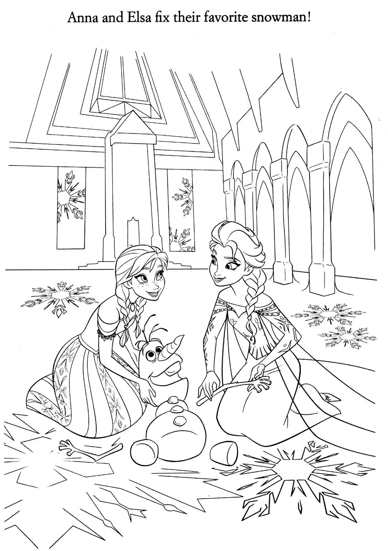 Coloriage la reine des neiges drawings - Coloriage de frozen ...
