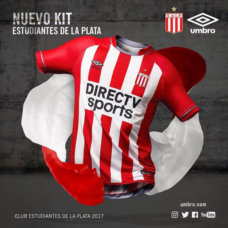 522f12c8d3 Camisas do Estudiantes de La Plata 2017-2018 Umbro