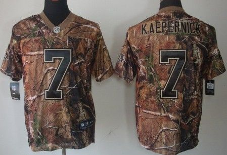 Cheap Nike San Francisco 49ers #7 Colin Kaepernick Realtree Camo Elite