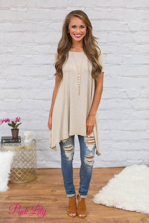 Natural Bliss Tunic - The Pink Lily