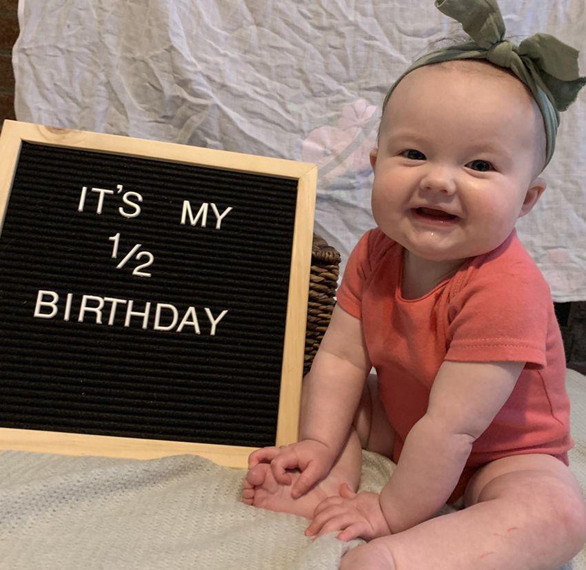 Letter Board 6 Months Letterboard 6monthold Baby Babygirl