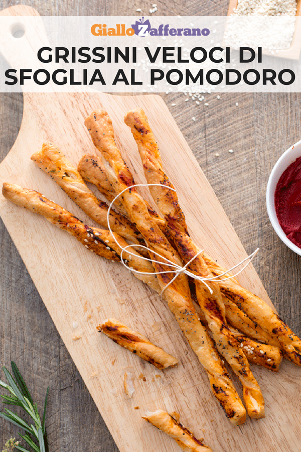 Photo of Quick tomato puff breadsticks-Grissini veloci di sfoglia al …