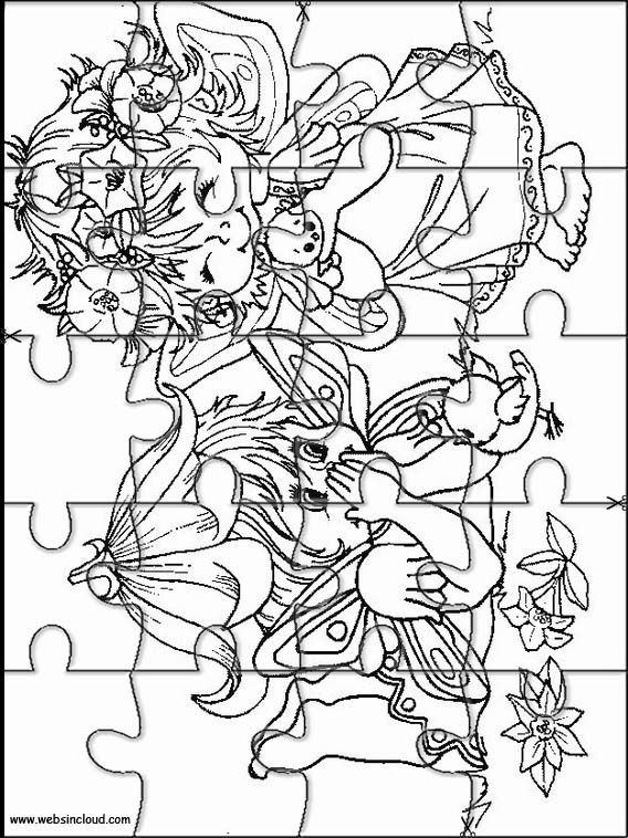 Printable jigsaw puzzles to cut out for kids Fantasy 1 Coloring