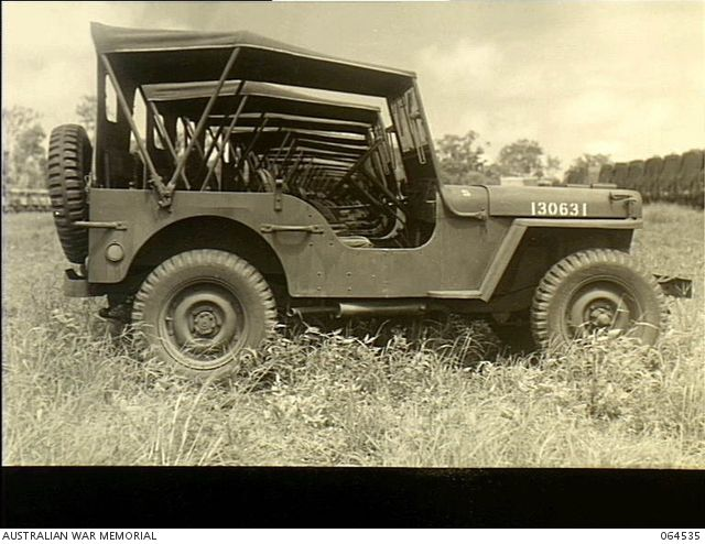 Tolga Queensland Australia 1944 02 24 A Line Of Jeeps At The