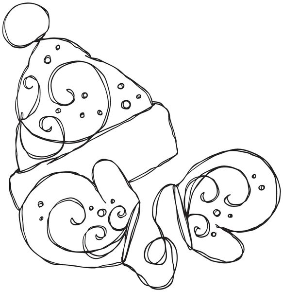 Wholesale Stamping Bella Stamp Hat And Mitts From Dollardays Coloring Pages Winter Redwork Embroidery Patterns Christmas Coloring Pages