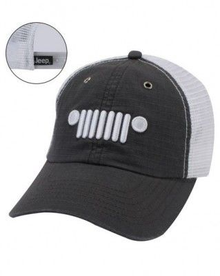 b2c558bdf2fb9 Jeep Grille Logo Hat- I need a couple of these for the jeep in the summer   )  jeep hair