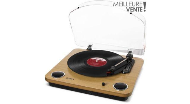 Platine Vinyle Ion Max Lp Wood Tourne Disque Vinyle Et