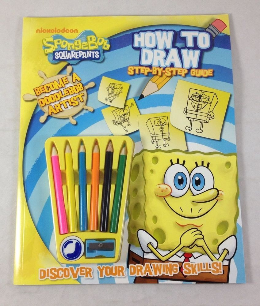 spongebob squarepants how to draw guide activity book artist kit