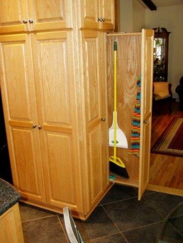 Broom Pullout Traditional Kitchen Design Storage Solutions Closet Broom Closet
