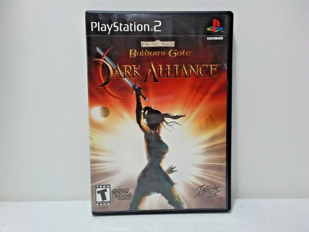 Baldur S Gate Dark Alliance Black Label Playstation 2 Ps2 Free