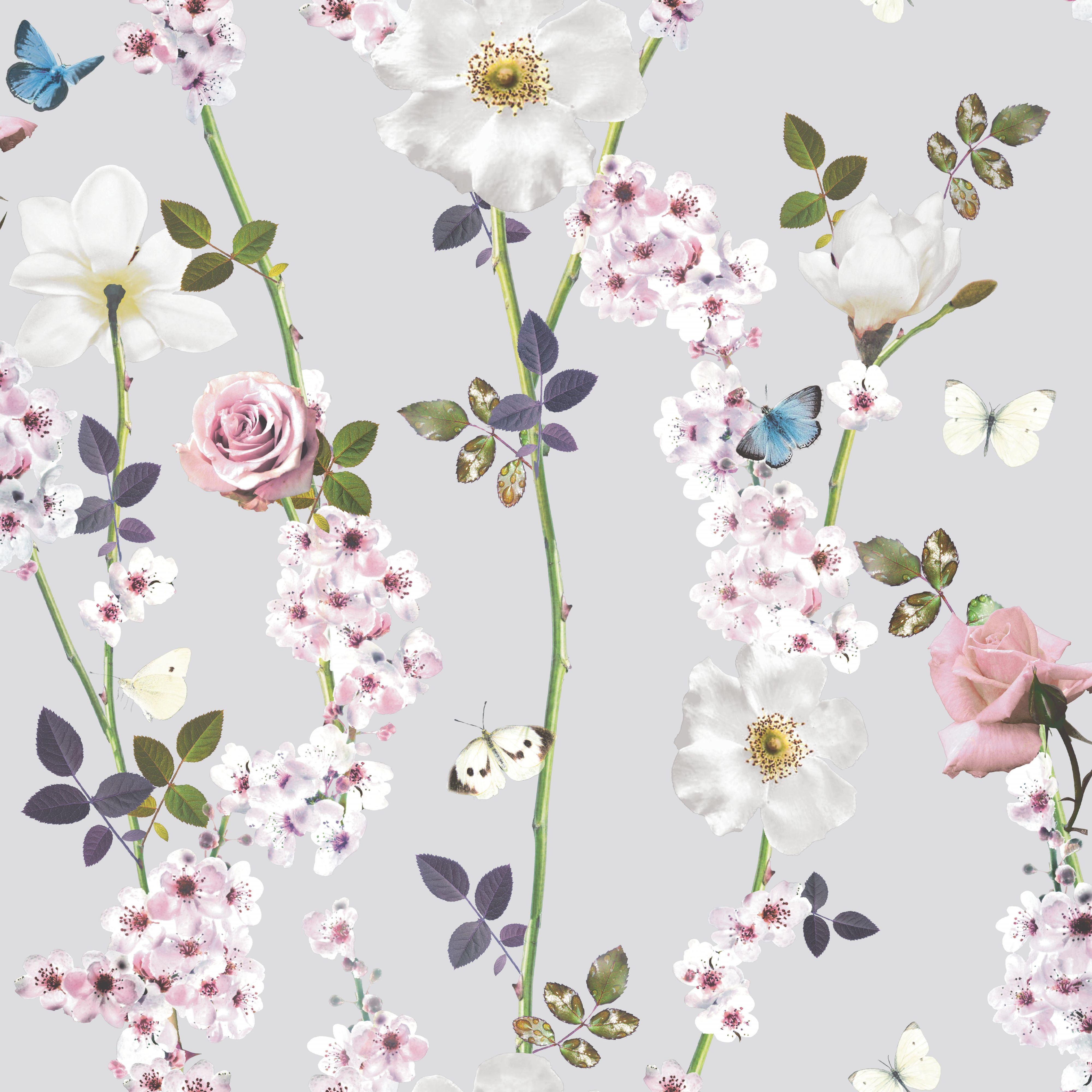 Unlimited Dreamscape Heather Butterflies Wallpaper Wallpaper