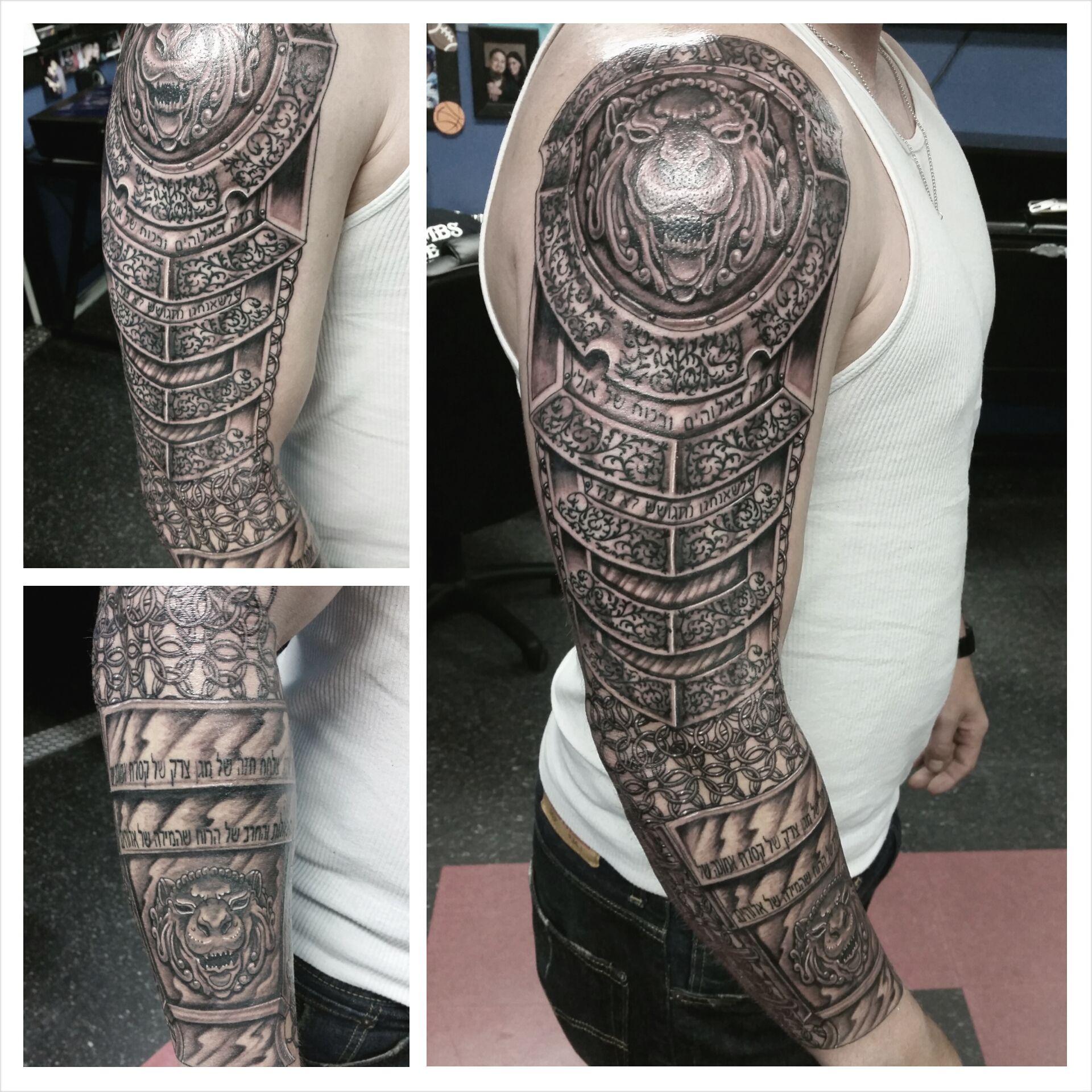 Armor Tattoo Armor Sleeve Tattoo Boneface Ink Ink ...