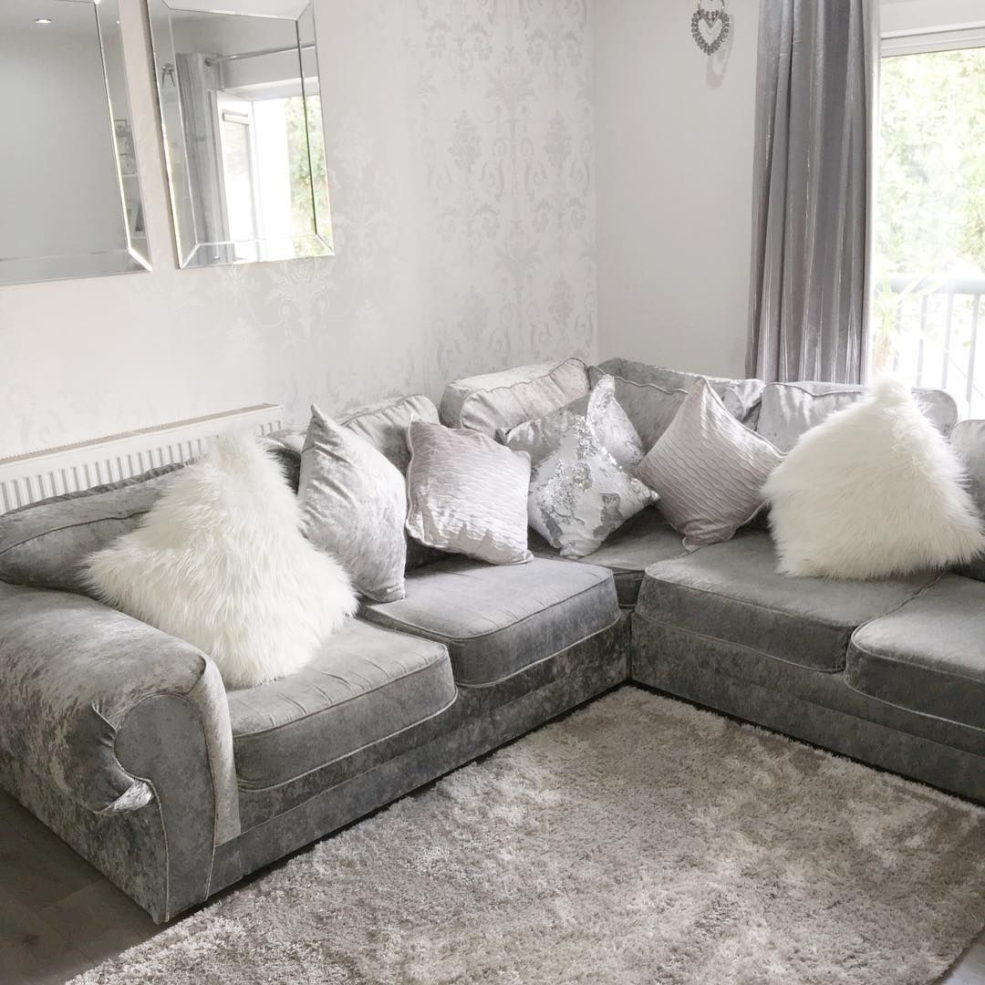 37 White And Silver Living Room Ideas That Will Inspire You Home Decor Bliss Silver Sofa Living Room Living Room Decor Cozy Living Room Designs #white #and #silver #living #room #ideas