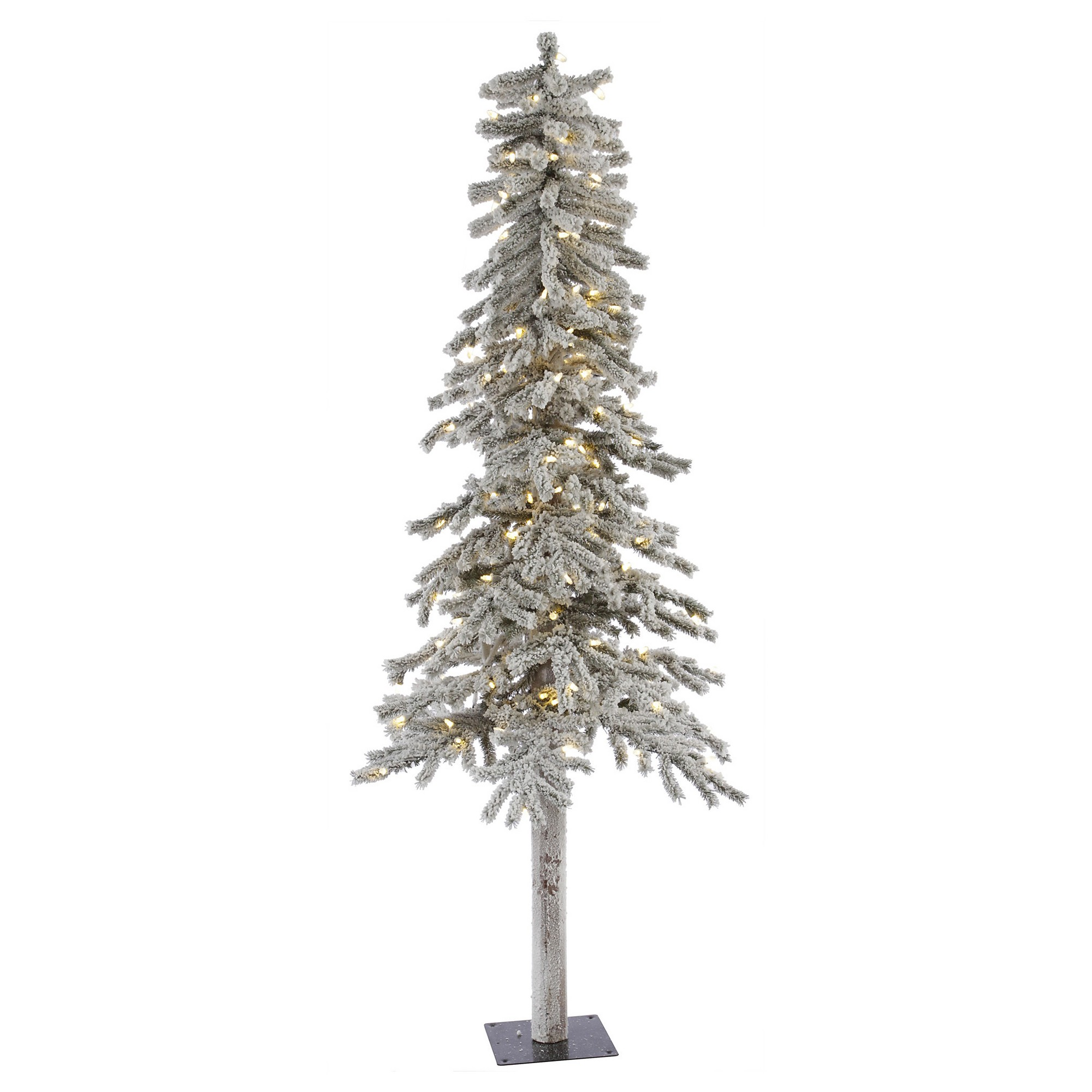 7ft Pre-Lit Artificial Christmas Tree Flocked White - White Led ...