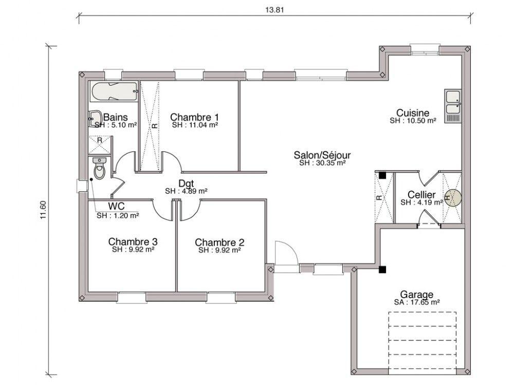 Modele De Maison Jonquiere En Rt2012 Mtlf 2