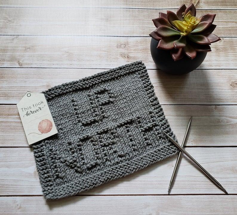 Up North Knit Dishcloth PDF Pattern - Easy Beginner ...