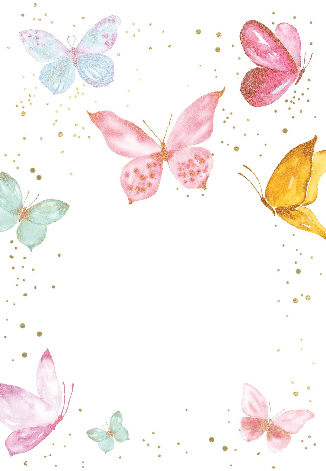 Magical butterflies - Birthday Invitation Template (free