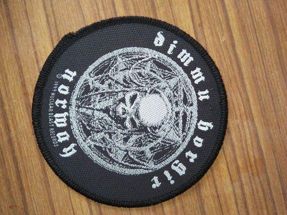 Vintage Dimmu Borgir Promo Tour Woven Patches Metal En 2019