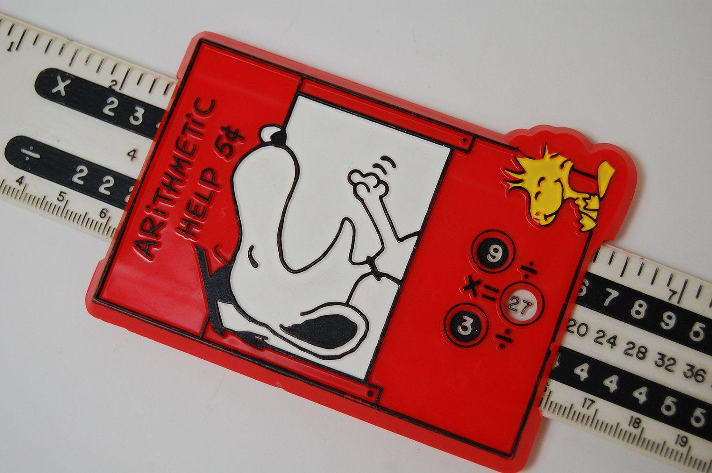 Peanuts Snoopy Slide Rule Ruler Arithmetic Help Ufs