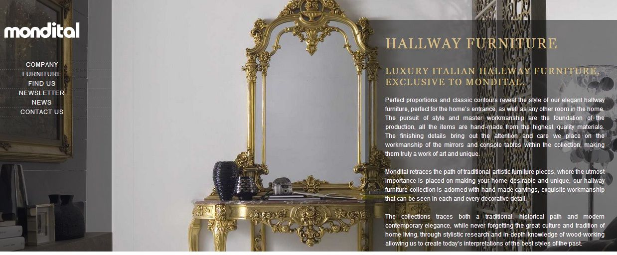 Delicieux LUXURY ITALIAN HALLWAY FURNITURE, EXCLUSIVE TO MONDITAL.