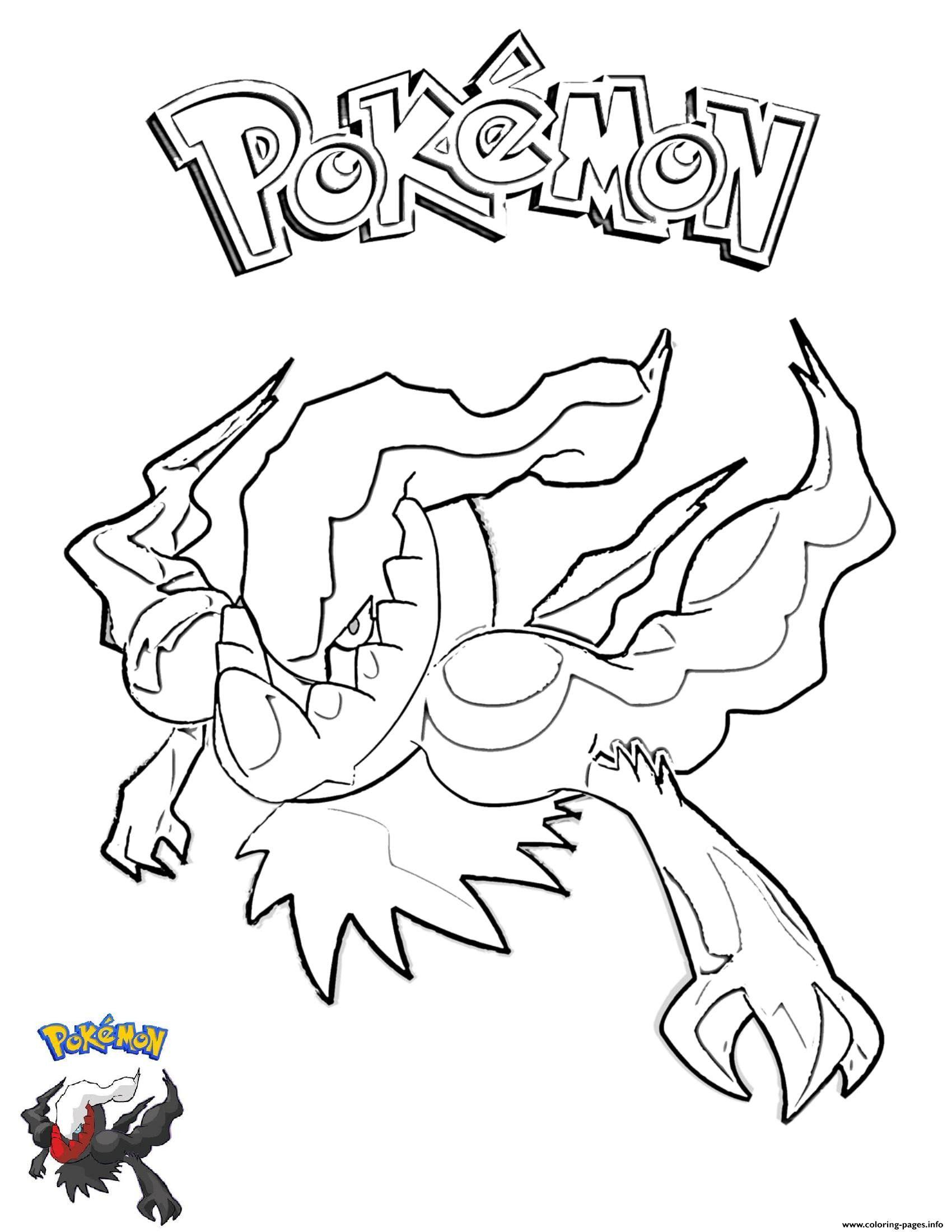 Legendary Pokemon Coloring Pages Darkrai Pokemon Coloring Pages Printable In 2020 Bear Coloring Pages Giraffe Coloring Pages Pokemon Coloring Pages