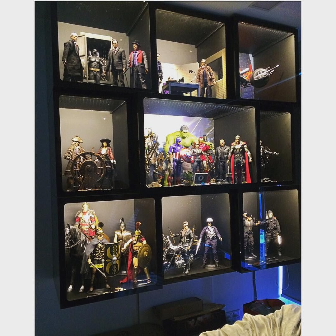 Fantastic Wall Mounted Acrylic Display Cabinet By Chezrich Singapore Each Cubicle Has Its Own Story Ema Display Cabinet Wall Display Case Memorabilia Display