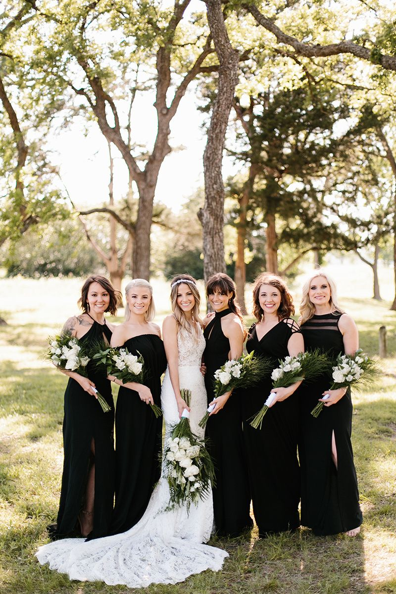 Bride squad contemporary boho frankie by made with love bride squad contemporary boho frankie by made with love black bridesmaid gowns ombrellifo Image collections