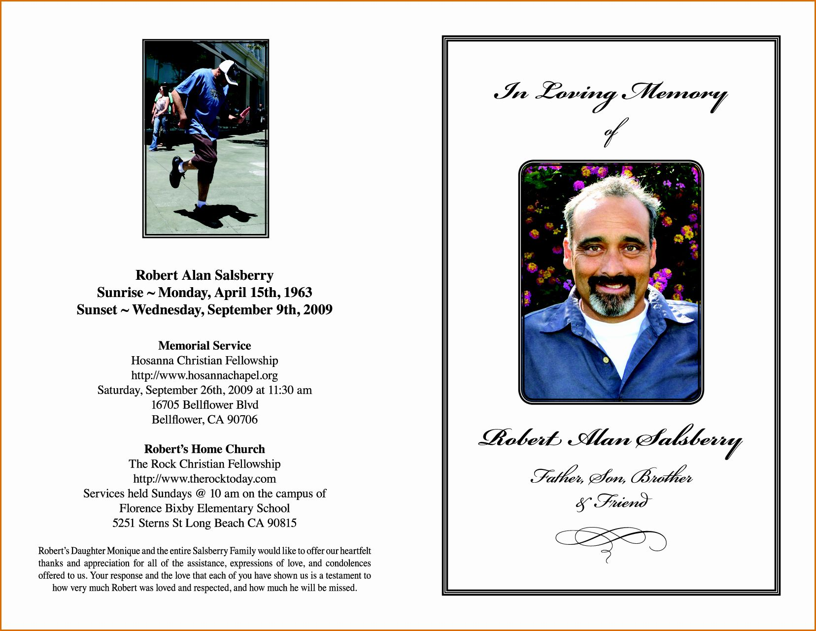 Memorial Card Template Microsoft Word Awesome 11 Free Funeral Program Templates Memorial Cards Funeral Program Template Card Templates Free