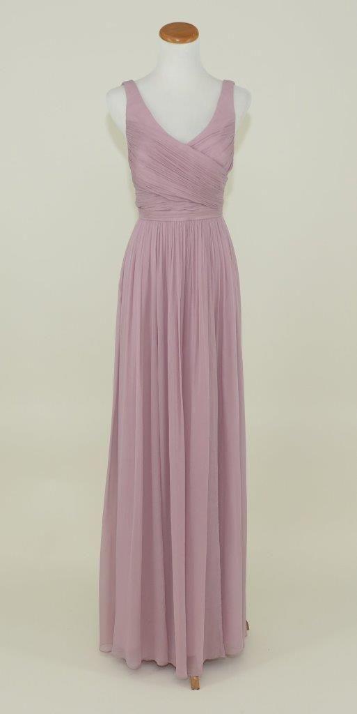 Dusty Thistle Silk Chiffon Heidi Formal Bridesmaid/Mob Dress ...
