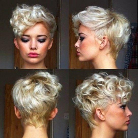 peinados para pelo corto y rizado peinados recogidos pinterest pixies hair style and