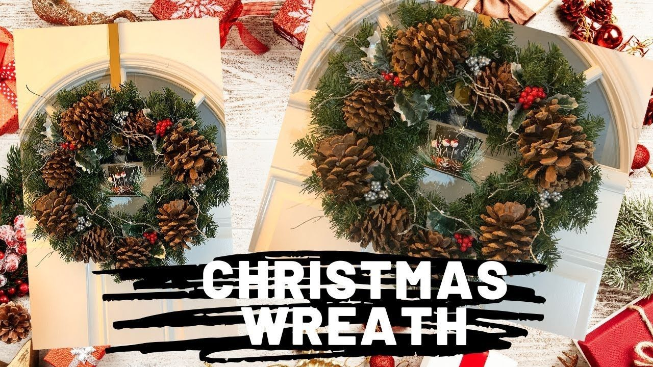 Easy Quick and Cheap Christmas Holiday Wreath DIY