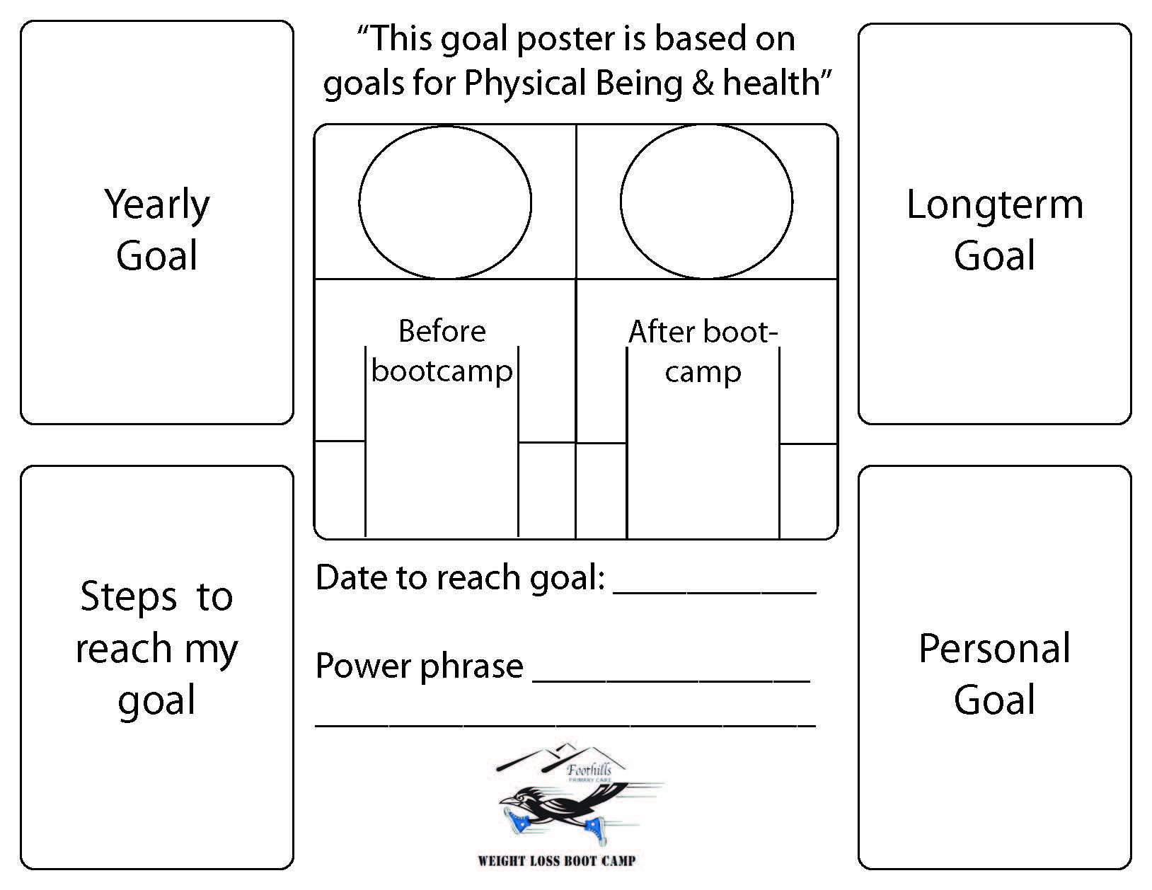 This Is A Goal Poster Template Add Your Own Pictures