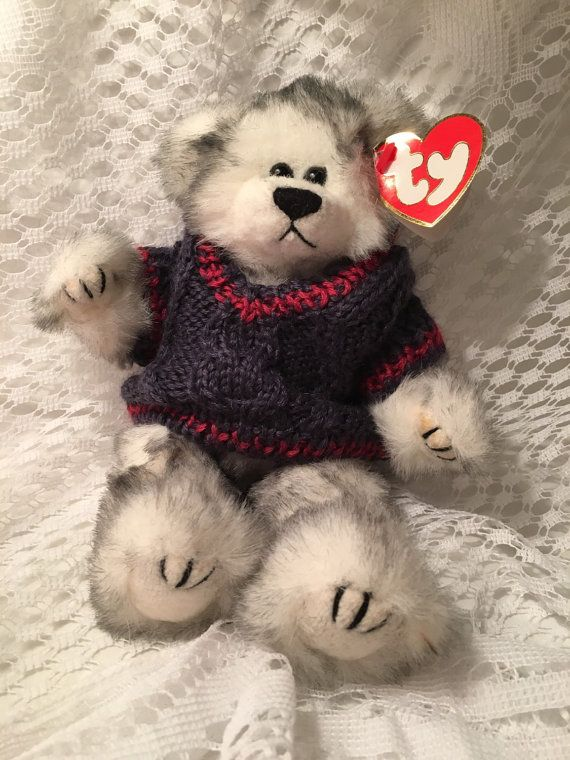 d13f8103b26 TY Beanie Baby Fairbanks Sweater Bear by JewelzVintage on Etsy