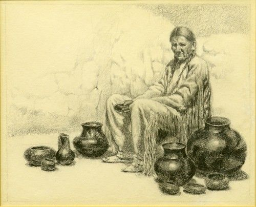 The Pottery Vendor by Henry C. Balink 1882-1963