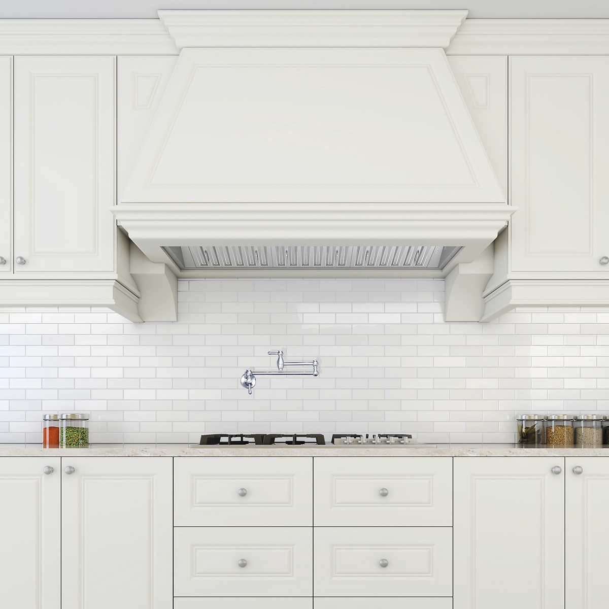 Ancona Pro Insert 48 Range Hood With Led Lights Range Hood Kitchen Cabinet Design Kitchen Vent